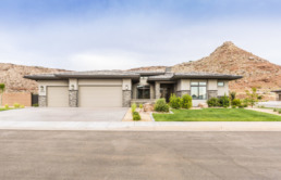 Real estate photography of the exterior of a home in St. George