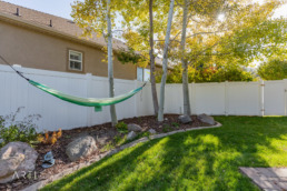 Real estate photography of a backyard in a Salt Lake City Home