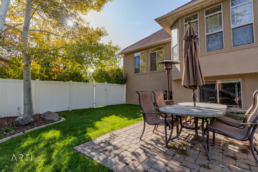 Real estate photography of the exterior of a home in South Jordan, Utah