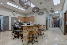 Commercial real estate photography of inside of commercial building in Las Vegas