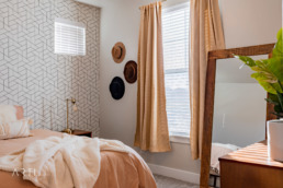 Real estate photography of a bedroom in Salt Lake City