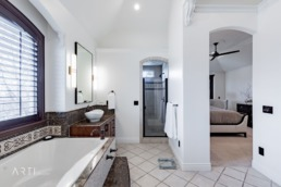 Real estate photography of a beautiful bathroom in Salt Lake
